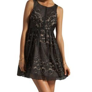 Free People Rocco  black Lace Cutout Dress